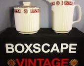 Lidded Sugar Bowl and Milk Jug Set, Johnson Bros, Tea Set, Kitchen Decor, 1960s