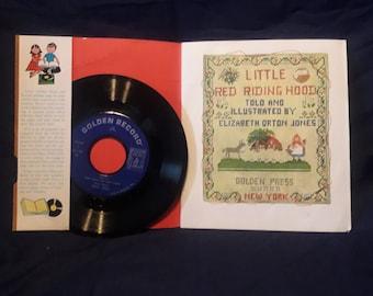 """1948 Little Golden Book """"Read and Hear - Little Red Riding Hood"""" vinyl 45"""