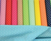 Cotton Fabric, Polka Dots Motif, (2meters 2.18 yards), Excellent Sewing Supplies, Sold By the Yard