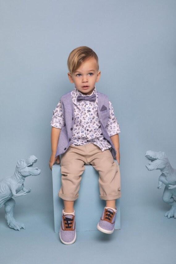 Taufe Baby Boy Anzug Kleidung Set Klassische Chic Taufe Outfit Erstkommunion Ausgezeichnete Stoffe