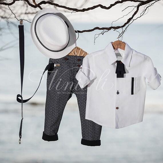 Alternative Taufe Baby Boy Anzug Stilvolle Kleidung Set Klassische Chic Taufe Outfit Erstkommunion Ausgezeichnete Stoffe Ringträger