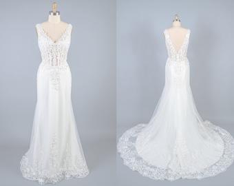 Lot of 1 Beaded Off-White Tulle Bridal Belt #WB-6