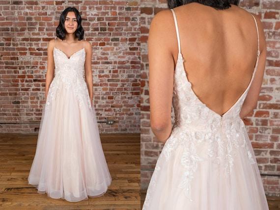 Princess Sweetheart Neckline With Spaghetti Strap Lace Ball Etsy,Long Sleeve Wedding Dresses Toronto