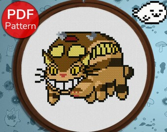 Cross Stitch Pattern Totoro My neighbor Totoro Halloween | Etsy