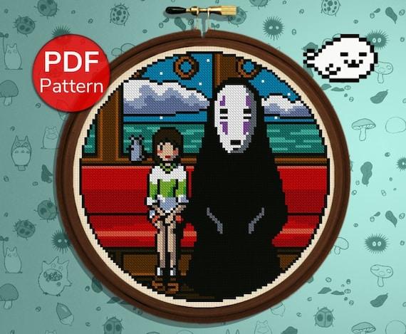 Cross Stitch Pattern Chihiro And No Face Spirited Away Etsy