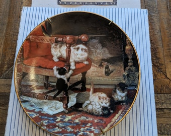 """Victorian Cat plate collection-""""frisky felines"""""""