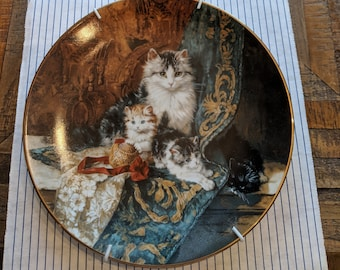 """Victorian Cat plate collection-""""perfectly poised"""""""