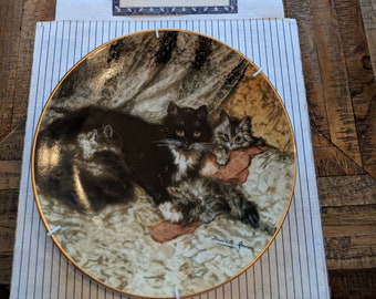"""Victorian Cat plate collection-""""midday repose"""""""