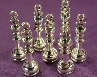 The Chess Collection 6 different antique silver  tone charms