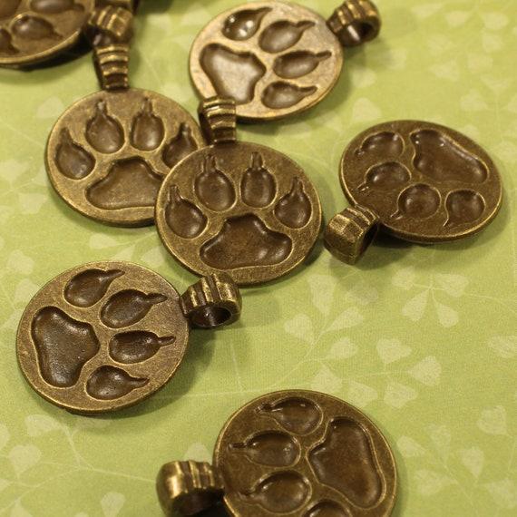 8 conector encantos bronce antiguo de impresión pata Tone BC196