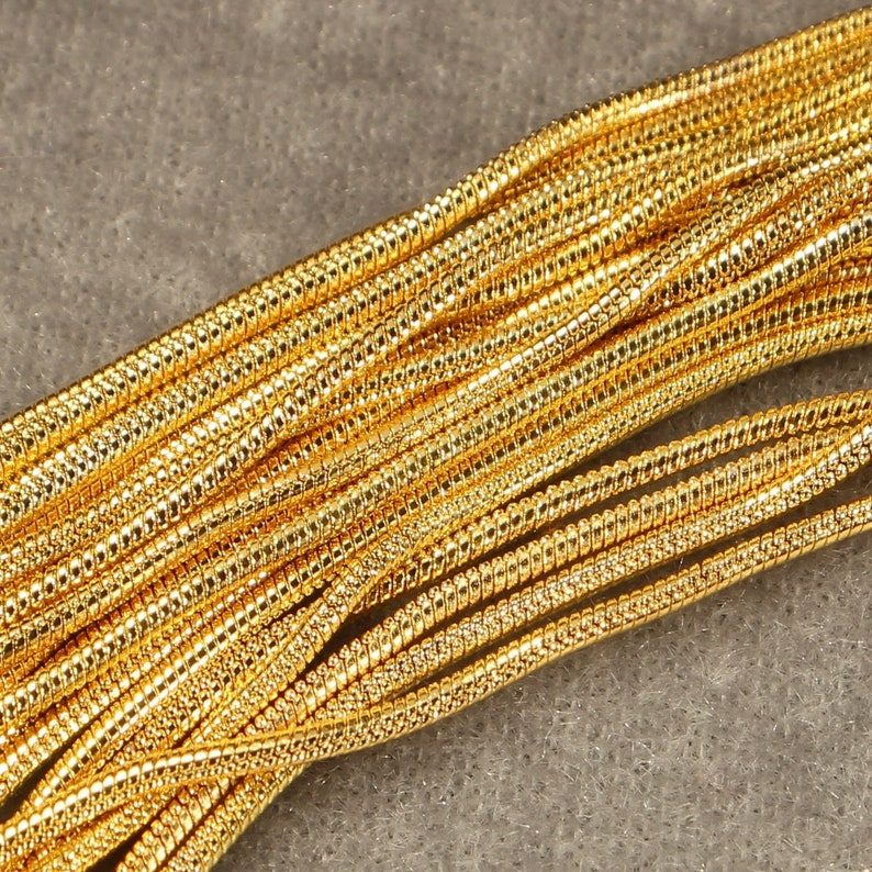 18 Gold Plated Copper and Iron Based 1mm Snake Chain with 12mm Lobster Clasp Necklace 0436