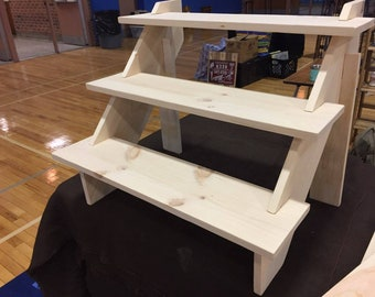 3 Tier Collapsible Pine Shelves
