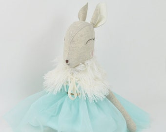 Deer Doll with Turquoise Dress