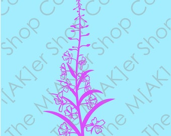 Wildflowers Alaska Fireweed digital download