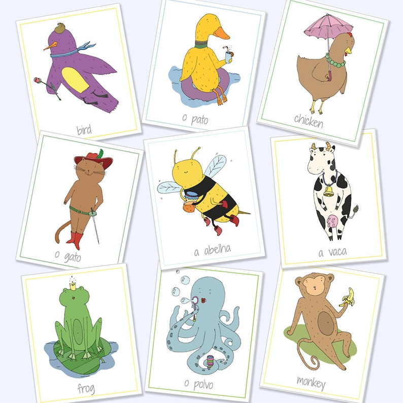 photograph relating to Printable Animal Flash Cards identify English Portuguese Bilingual Animal Flash Playing cards, Printable Online games, Informative Game titles, Animal Playing cards, Animal Flash Playing cards, Electronic Down load