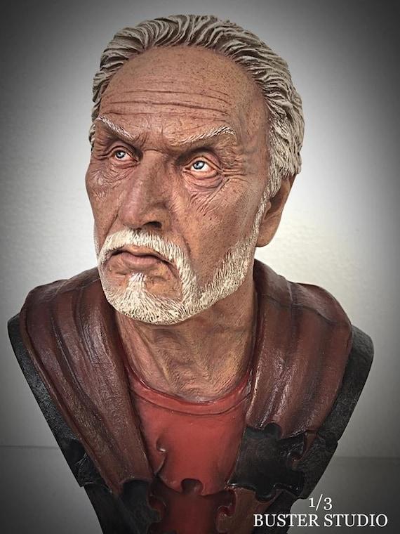 Tobin bell  ,jigsaw,movie,handmade,bust,statue,models,collector,decorate,art,sculpture,hobby,action,figure