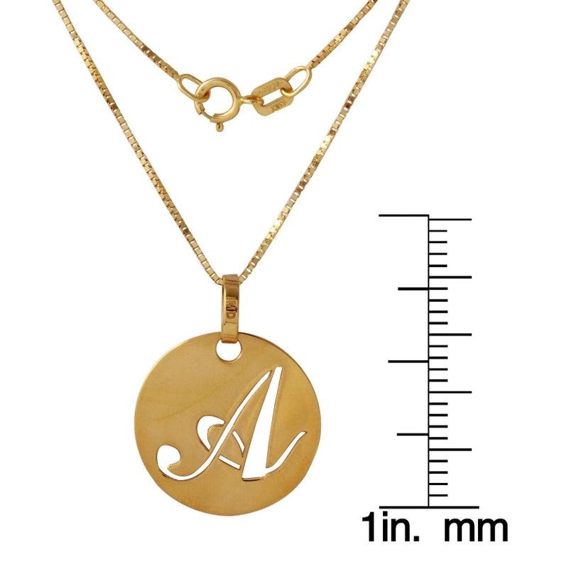 18 Italian 14k Yellow Gold K Script Initial Pendant Necklace