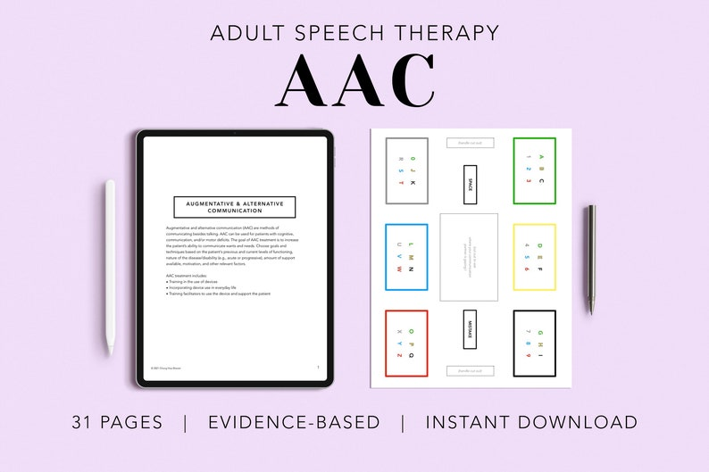 AAC Pack Adult AAC Boards Printable Patient Handouts image 0
