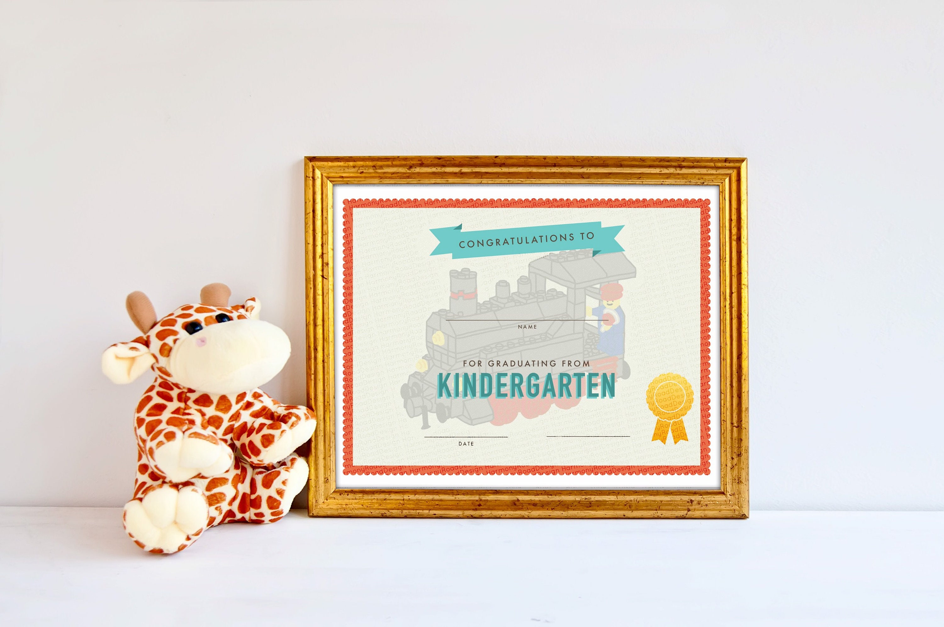 kindergarten graduation certificate template boys girls etsy