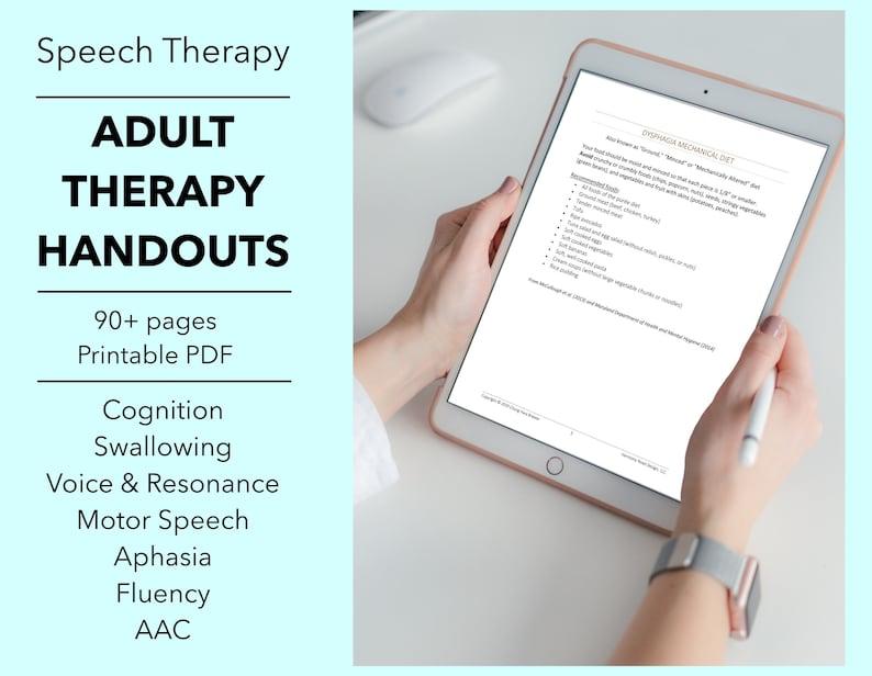 Speech Therapy Patient Handouts SLP Treatment Forms PDF image 0