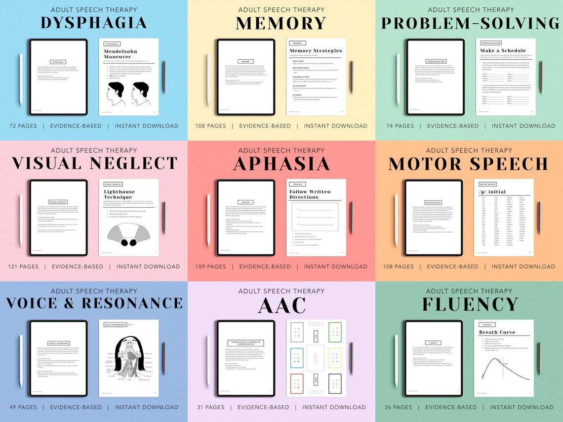 Complete Digital Adult Speech Therapy Workbook 9 PDF Packs image 7
