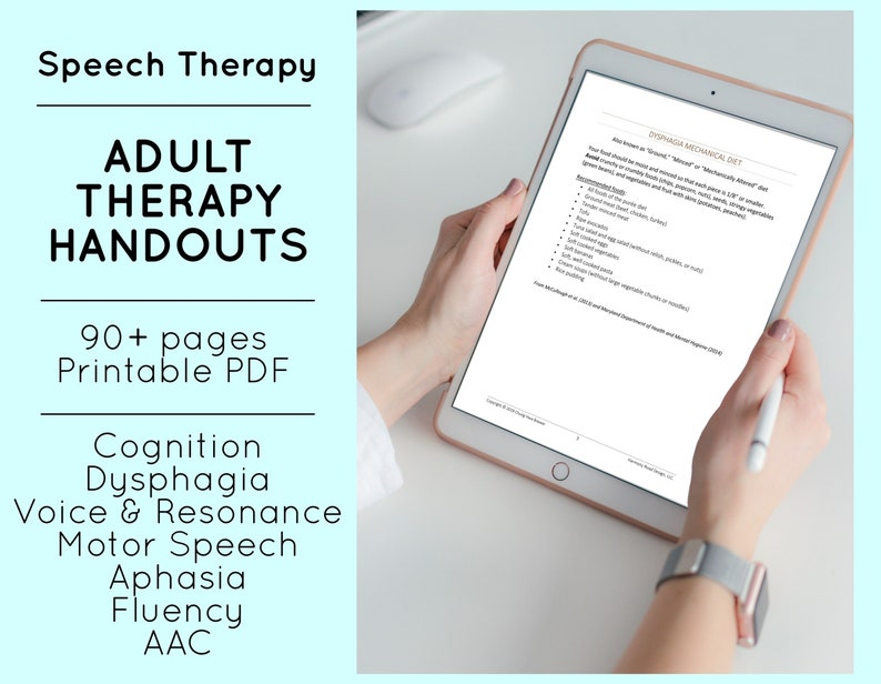 Speech Therapy Patient Handouts SLP Treatment Forms PDF image 0