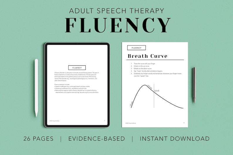 Fluency Pack PDF Patient Handouts Worksheets Resources image 0