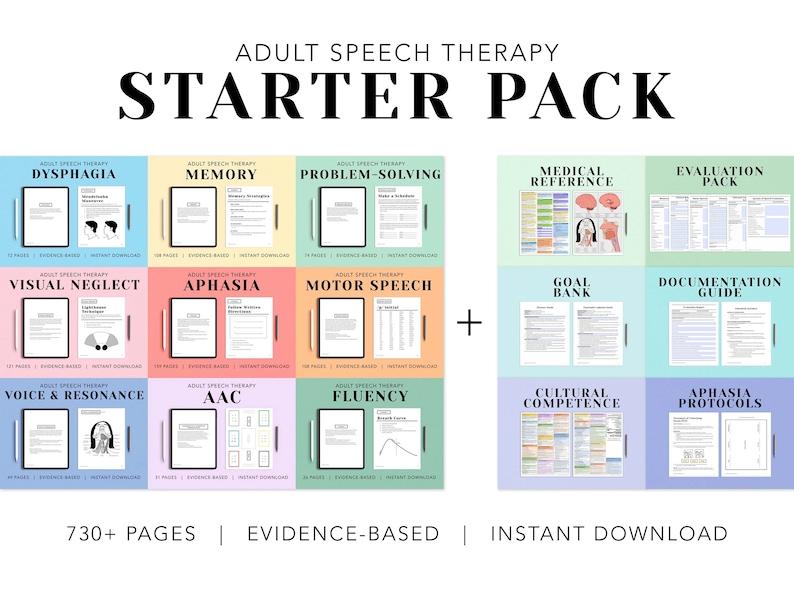 Adult Speech Therapy STARTER PACK Speech Language image 1