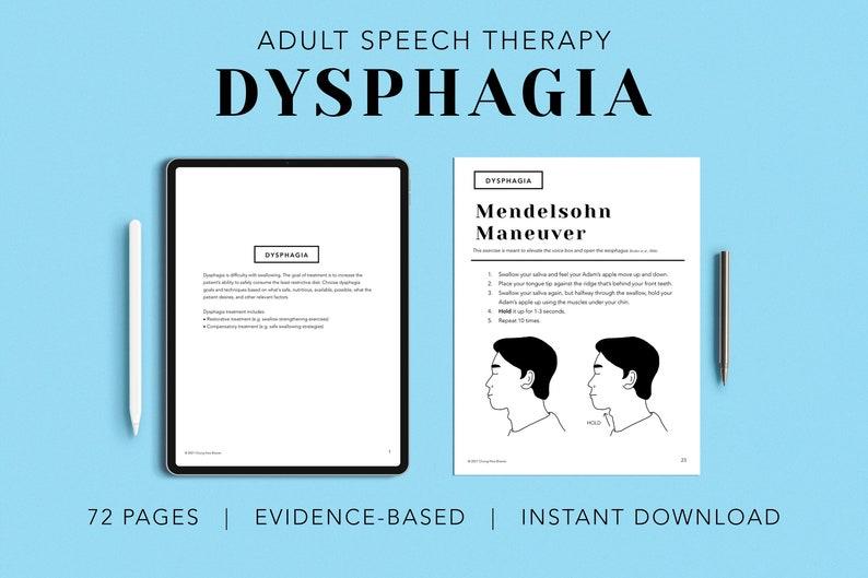 Dysphagia Pack PDF Patient Handouts Worksheets Resources image 0