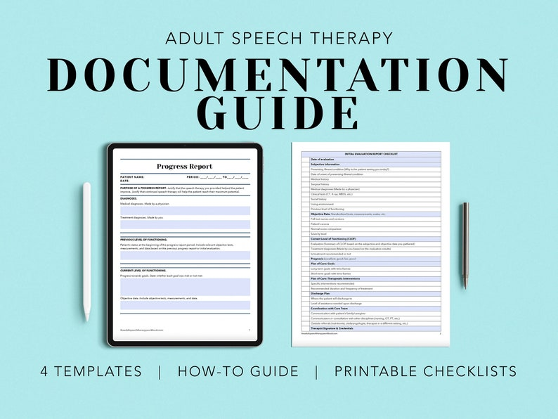 Documentation Guide Speech therapy documentation examples image 1
