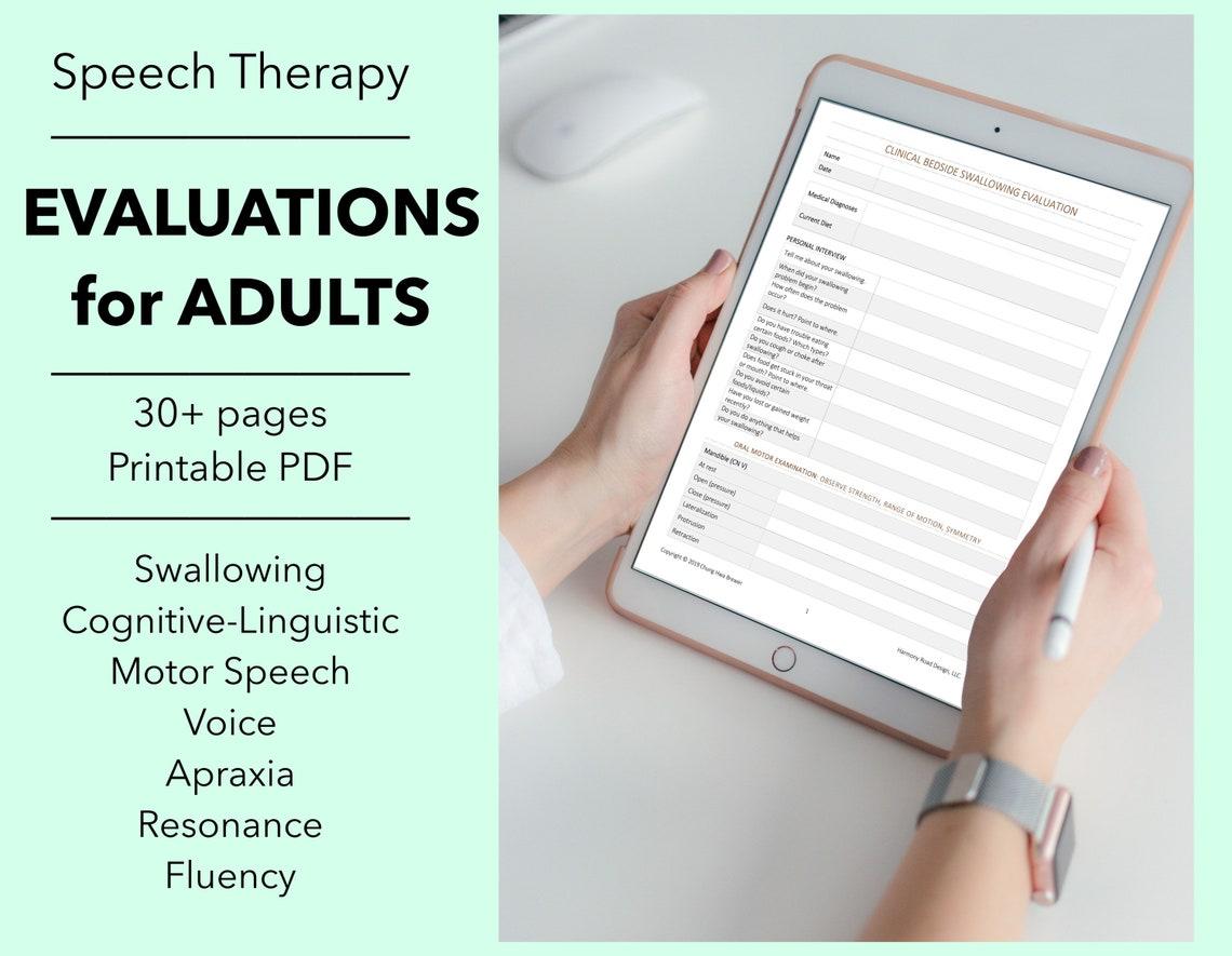 SLP Evaluation Forms 6 Adult Eval Templates PDF Home Health image 0