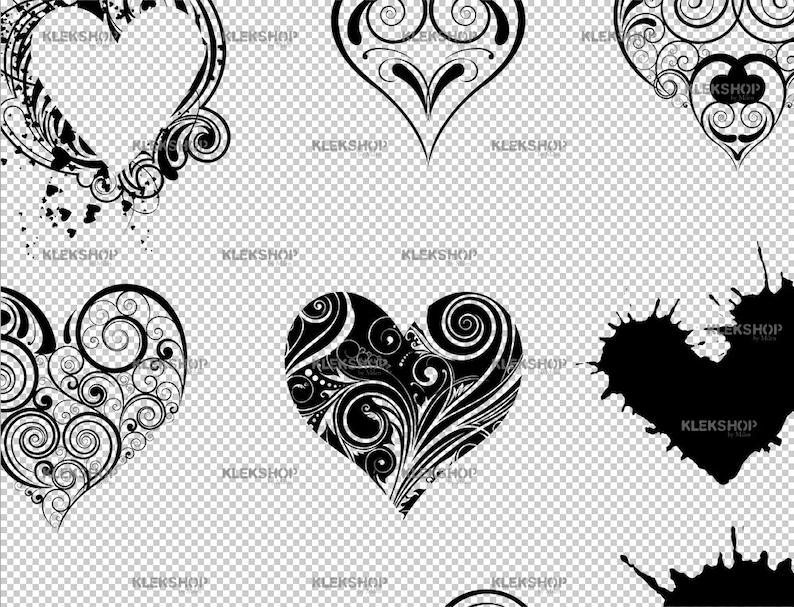 Heart clipart Silhouette Digital Clipart,PNG Hearts SVG Cricut File Love svg Valentine Days Valentine svg Stencil Vector Heart SVG