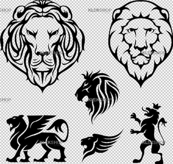 Lion Svg Lion Face Lion Eps Lion Silhouette Lion Files Etsy