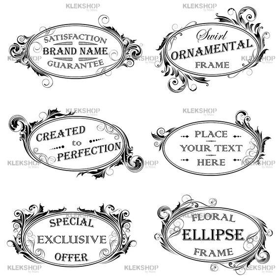 Borders Clip Art,Digital Labels,Ornate frames,Swirls and Decorative frames,Wedding frames,PNG file Vector Clipart Frames Set,Digital Frames