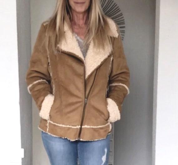Vintage Faux Suede/Wool Women's Jacket