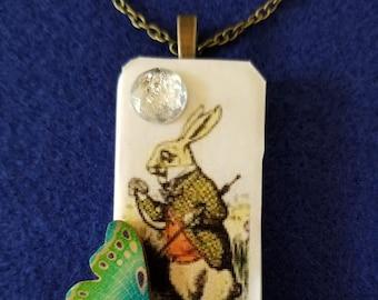 Alice in Wonderland Rabbit Pendant