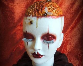 American Horror Story Inspired Honeycomb Head, Bees, AHS Cult, Horror Doll, Halloween, Halloween Decor, OOAK, Creepy, Macabre, Alternative