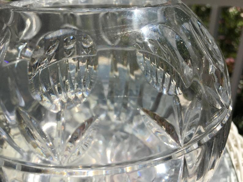 Vintage Lead Cut Crystal Bowl Votive Candle Holder