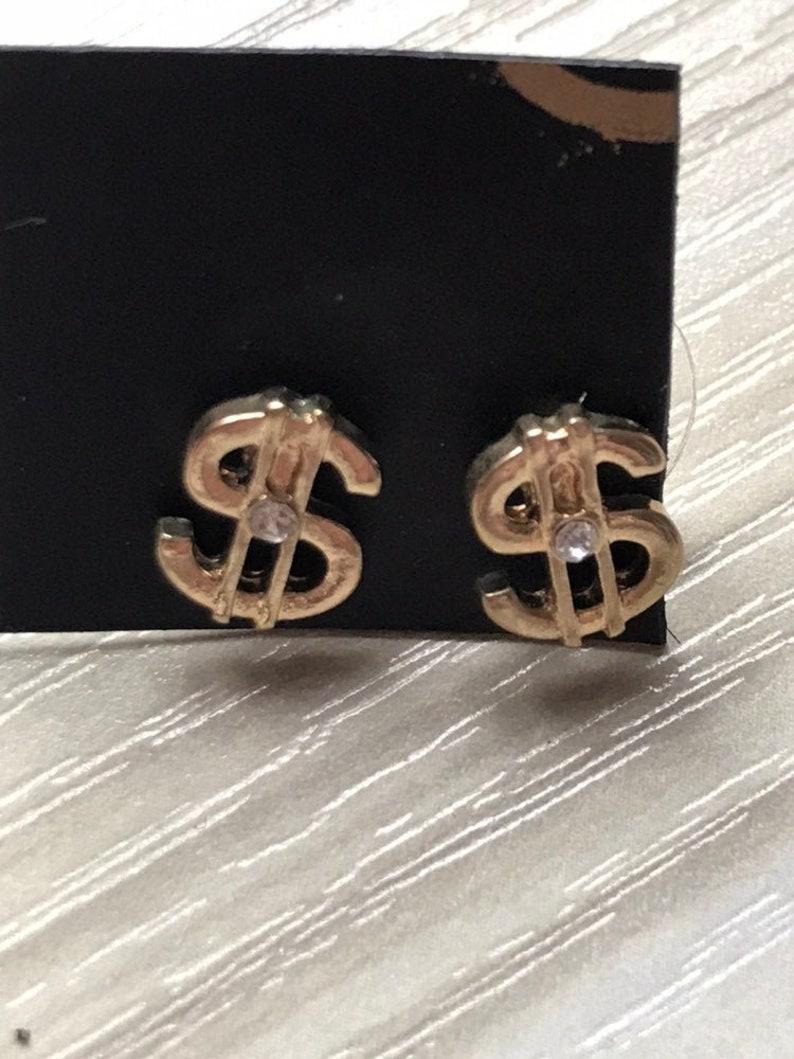 Money Money USA Earrings Sollar Signs Dollar Sign Ear Studs Dollar Baby