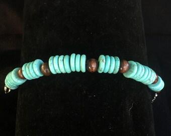 Howlite & Wood bracelet