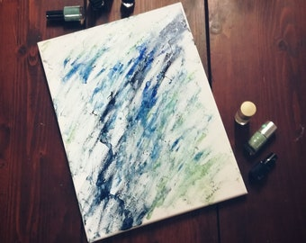 """Painting """"Enamels on canvas"""": Nail varnishes on canvas"""
