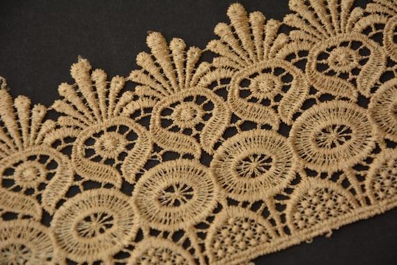 Garniture de coton bordé de dentelle, vêtements, tissu Couture, colur bricolage, colur Couture, Beige, dentelle au crochet en coton, ruban de tissu, fait main, accessoires, artisanat 27a764