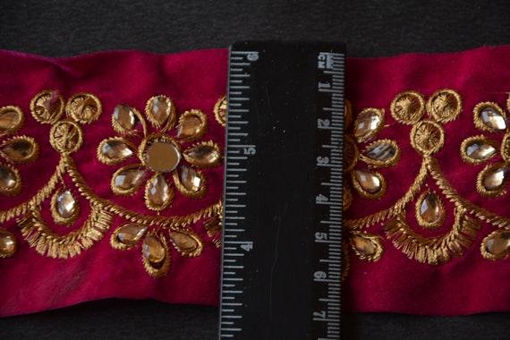 Indien trim, bordure en dentelle de perles, vêtements, couture de bricolage, tissu, bricolage, de garniture dorée, Kundan Trim, ruban de tissu, fait à la main, accessoires, artisanat c819dd