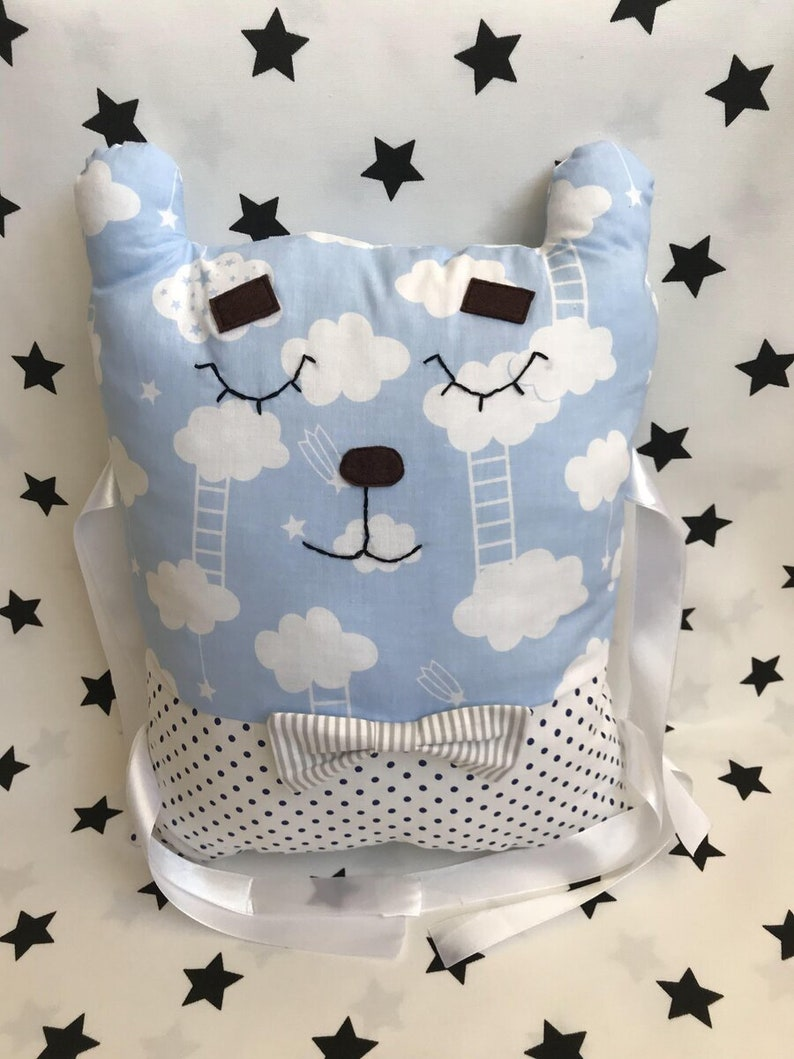 Baby Animal Pillow guard Animal Sided baby bedding baby pillow image 0