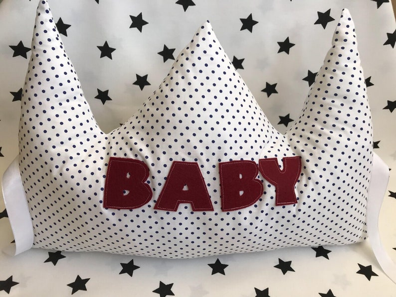 Baby Crown Pillow guard Sides for bed baby bedding baby pillow image 0