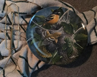 The Baltimore Oriole Edwin Knowles Plate