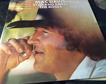 Mac Davis Stop And Smell The Roses Vinyl (LP) ColumbiaKC 32582 US, 1974