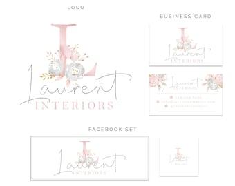 Premade Logo, Logo Design, Monogram Logo, Initial Logo, Floral Logo, Branding Kit, Branding, Watercolor Logo, Custom Logo, Business Logo