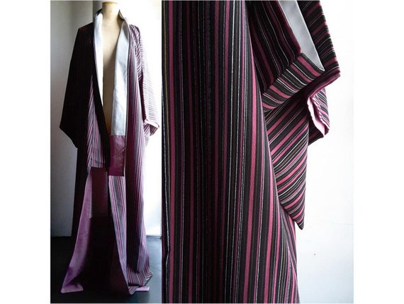 Extra long men's KIMONO in a crepe-like lightweigt