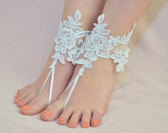 def8e4b18c1ef4 ... Beach pool barefoot sandals wedding bridal accessories Etsy fashion  styles 3433d 4ac9b  Barefoot sandles Ivory Lace barefoot ...